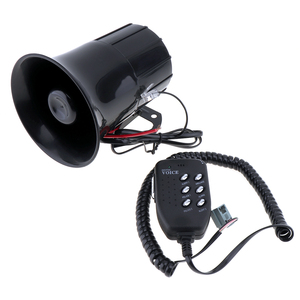 Image 4 - 6 Sound 100W Tone Loud Horn Motorcycle Auto Car Vehicle Truck Speaker Warning Alarm Siren Police Fire Ambulance Horn Loudspeaker