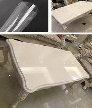 SUNICE Transparent Paint Coffee Table Marble Desktop