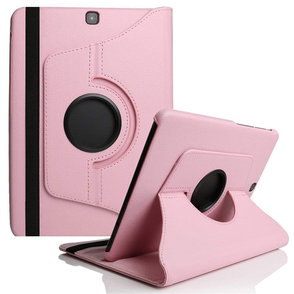Cover For Samsung Galaxy Tab A 9.7inch T550 Case TabA 9.7 SM-T550 T551 SM-T555 360 Degree Rotating PU Leather Tablet Case Glass