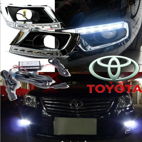 ФОТО car-styling,2009~2011 Camry daytime light,led,2pcs/set,Camry fog light;car-covers,chrome, Camry