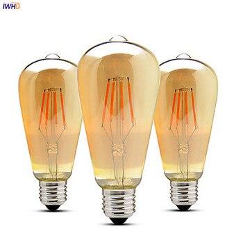 IWHD-Bombilla LED Edison de estilo Retro para el hogar, lámpara de Estilo...