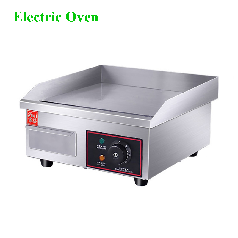 Commercial Small Section Of Stainless Steel Body Counter Electric Griddle Fine Grilled Board Griddle  EG-818BCommercial Small Section Of Stainless Steel Body Counter Electric Griddle Fine Grilled Board Griddle  EG-818B