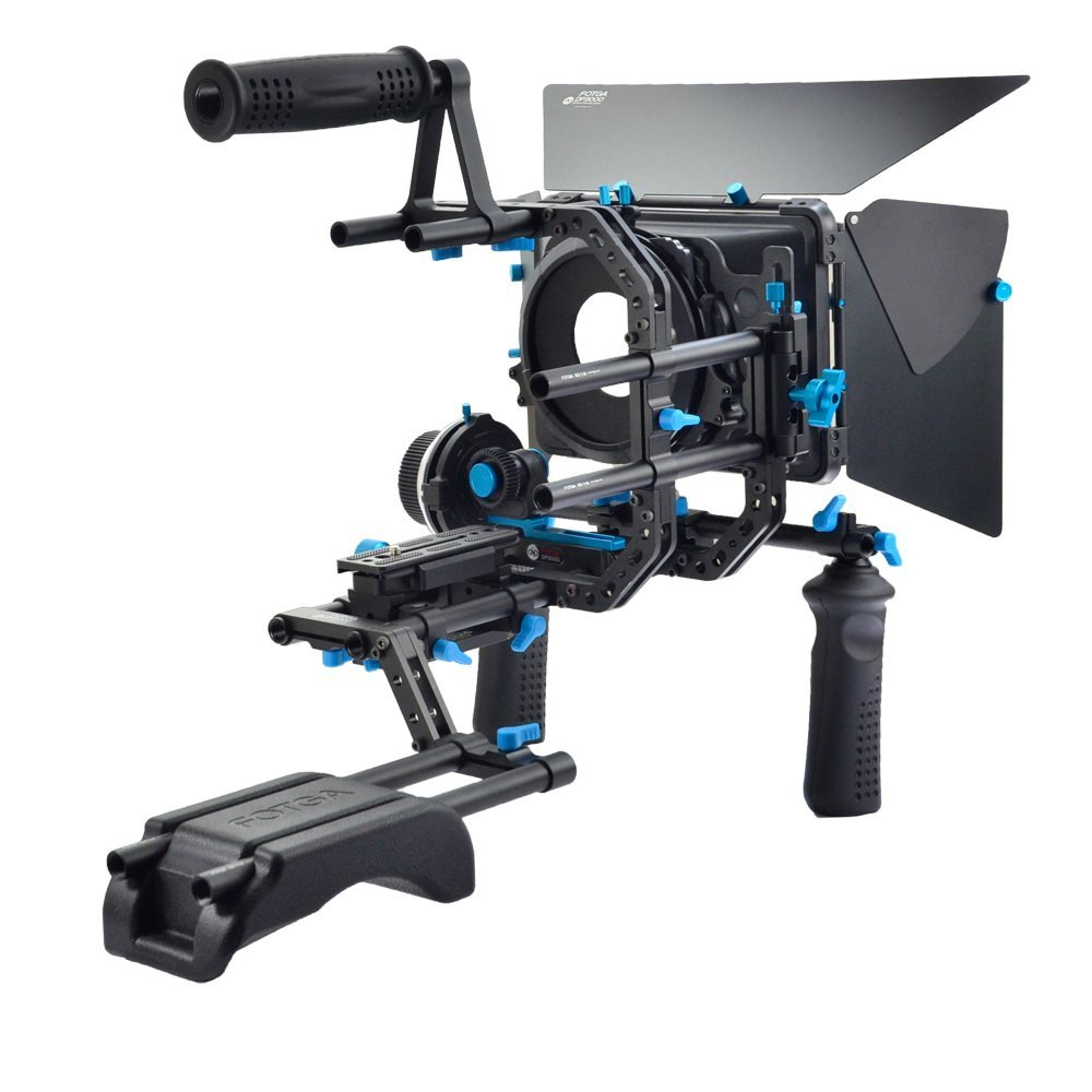 FOTGA DP3000 DSLR Rig Set Movie Kit Shoulder Mount Rig for DSLR Cameras and Video Camcorders ylg0102h dslr shoulder mount support rig double hand handgrip holder set for all video cameras and dv camcorders