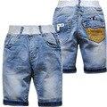 5979 verano cortocircuitos del bebé bebé pantalones vaqueros de mezclilla cortos pantalones de media pierna 70% longitud pantalones vaqueros del bebé boy kids fashion suave denim fresco