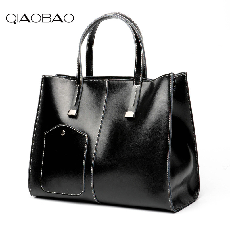 QIAOBAO 100% Genuine leather Women handbags Wholesale 2018 new stitching bag diagonal single shoulder bag handbag bag outlet qiaobao women general genuine leather handbags tide europe fashion first layer of cowhide women bag hand diagonal cross package