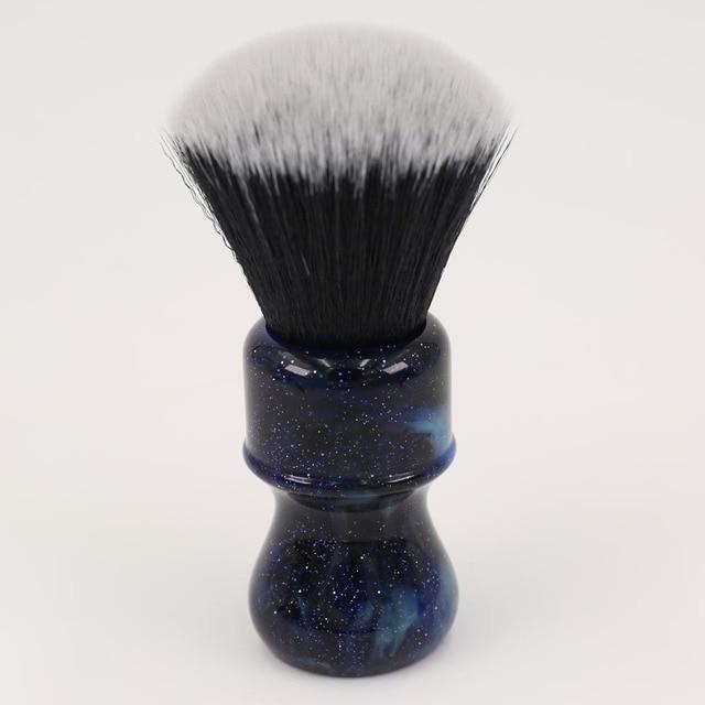 26MM Yaqi Mysterious Space Color Handle Fan Shape Tuxedo Knot Men Shaving Brushes