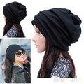 Hot Women Men Scarf  Fashion Slouch Winter Knit Scarf Hip-Hop Cap Beanie Hat Ski Crochet 1T92 7EN4