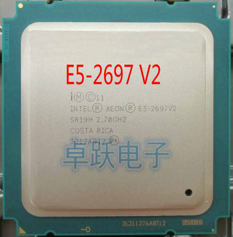 E5-2697V2 Original Intel Xeon official version E5-2697 V2 12-CORES 2.7GHZ 30MB FCLGA-2011 22NM 130W E5 2697V2 CPU E5 2697 V2