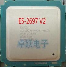 Intel procesador Intel xeon E5 2697V2 2,7 GHz 30M QPI 8GT/s LGA 2011 SR19H C2 E5 2697 v2 CPU, 100% de trabajo normal