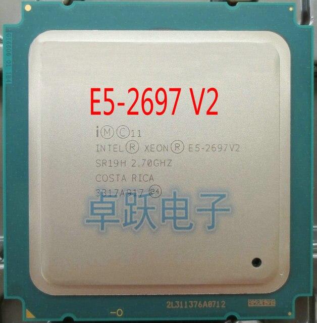 Intel xeon E5 2697V2 2.7GHz 30M QPI 8GT/s LGA 2011 SR19H C2 E5 2697 v2 procesor cpu 100% normalnej pracy