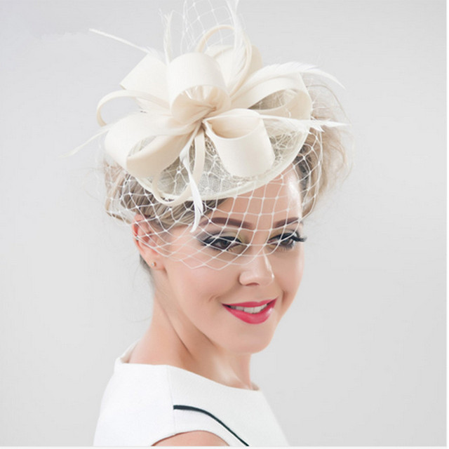 Brand Wedding Hats Fascinators Veil Hairpin Women Feather Fascinator Hat  Black Birdcage Hair Accessories Tocados Dombreros Bodas 35c8e34b533