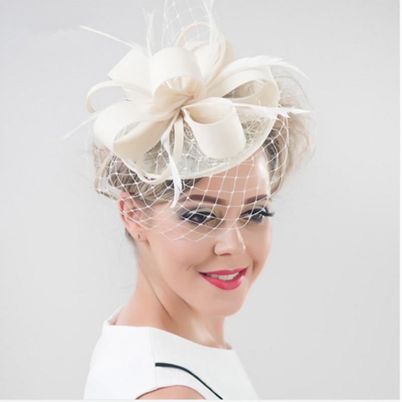 Brand Wedding Hats Fascinators Veil Hairpin Women Feather Fascinator Hat Black Birdcage Hair Accessories Tocados Dombreros Bodas