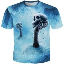 YOUTHUP New Arrival T-shirts Men 3D Printed Cool Skulls Short Sleeves T Shirt Casual Tops Streetwear Tshirts Harajuku 5XL