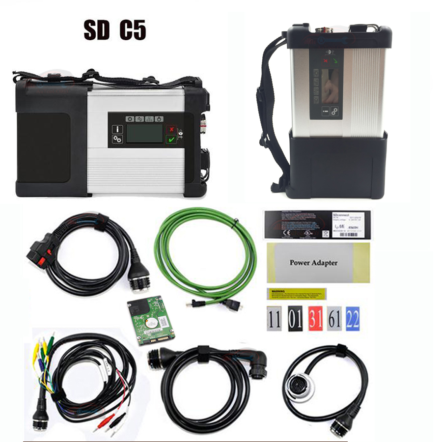 Mulit-Language Super MB Star C5 with Software MB Star SD C5 SD connect diagnostic tool+V2018.03 HDD Software Expert mode support