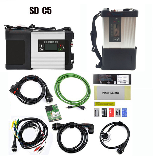 Mulit-Language Super MB Star C5 with Software MB Star SD C5 SD connect diagnostic tool+V2019.03 HDD Software Expert mode support