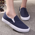 Free Shipping Unisex Fashion Candy-colored Canvas Shoes Slip-on Casual Shoes Lovers Flat Shoes Men Loafers Size 36~45