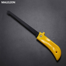Home Hand Saw Yellow Plastic Handle Gear Steel Portable Garden Cutting Branch Supplies Safety Non-Slip Manual Saw Garden Tools стоимость