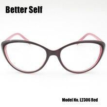 Better Self L2306 Full Rim Spectacles Beauty Eyewear PC Optical Eyeglasses Myopia Optics Cat Eye Glasses Frames