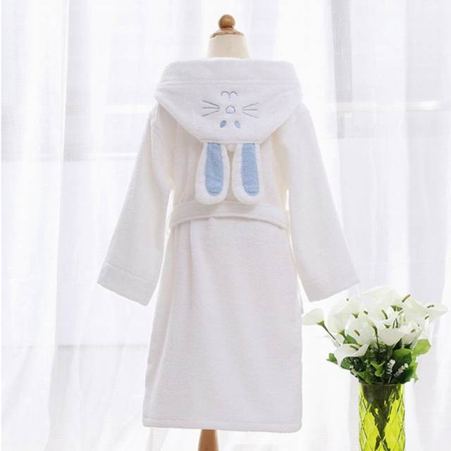 d5d1ebc387 Hooded Towel Child Bathrobe Kids Boys Girls Robe Cotton Lovely Bath Robes  Dressing Gown Roupao Kids