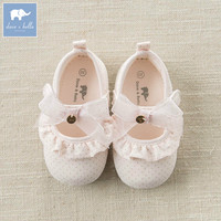 DB7128 Dave Bella Baby Girls Soft First Walkers Baby Cute Bow Shoes
