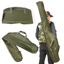 Portable 100cm/150cm Fishing Bags Folding Fishing Rod Carrier Canvas Fishing Pole Tools Storage Bag Case Fishing Gear Tackle