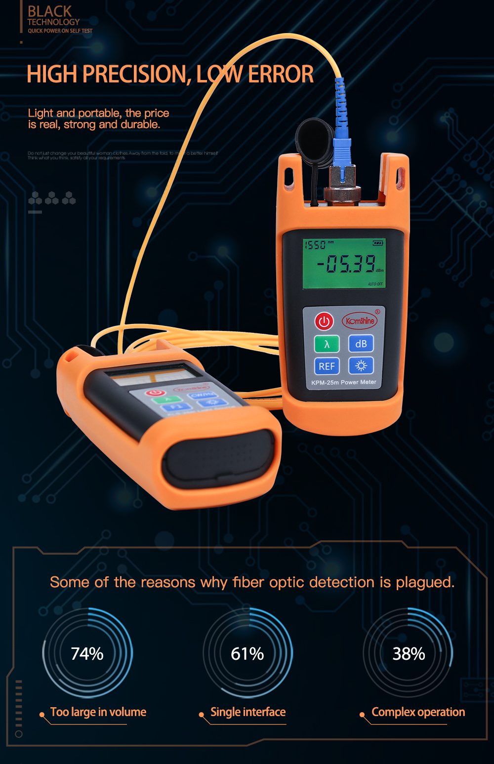 Komshine_KPM-25_Fiber_optical_power_meter_equal_to_EXFO_power_meter_12