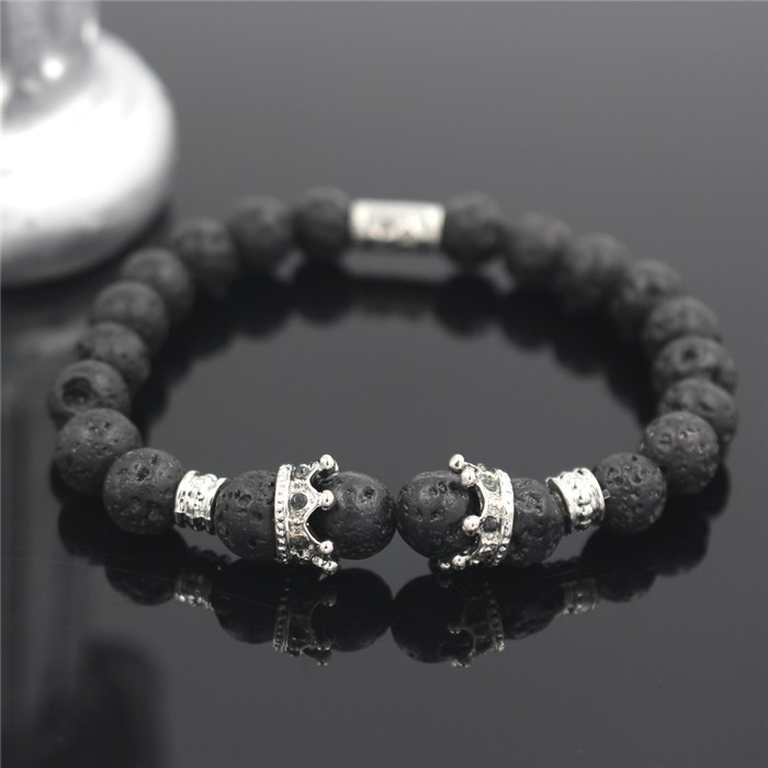 silver-imperial-crown-with-natural-lava-stone-black-bracelet-1