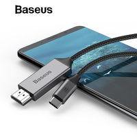 Baseus USB Type C to HDMI Cable for Huawei P20 Mate 20 Pro USB C to HDMI Splitter for MacBook Samsung Galaxy S8 S9 Adapter
