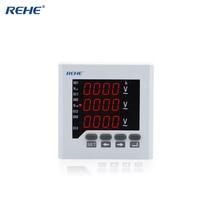 REHE AC RH 3AV73 80*80MM Intelligent Analog Panel Elctrical Voltmeter LED