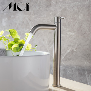 Image 5 - 304 ステンレス鋼単一のコールド迅速オープンタイプキッチン & 洗面台の蛇口錆や耐食性浴室シンク水タップ