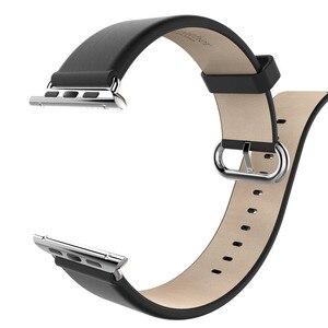 Image 4 - هوكو جديد سوار جلد طبيعي لساعة أبل 5 4 2 1 الطبقة الأولى حزام من الجلد متوافق مع ساعة أبل 44 مللي متر 40 مللي متر 42 مللي متر 38 مللي متر