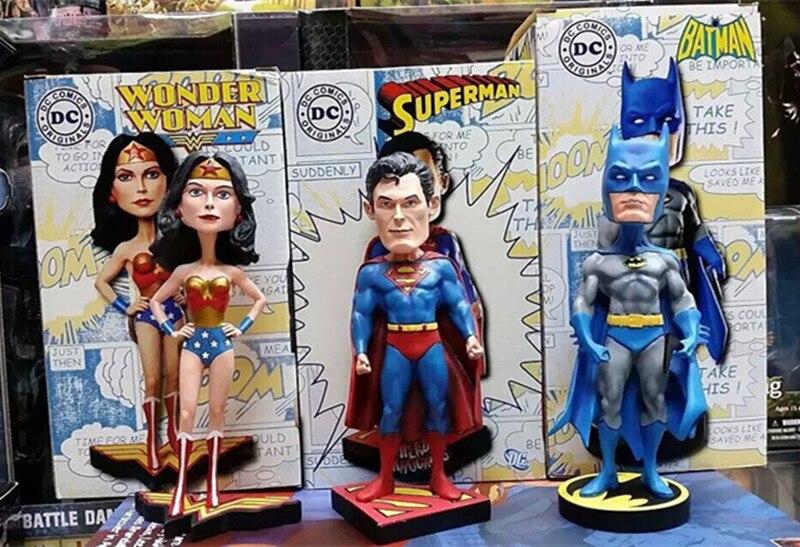 Batman 20cm 3pcs PVC Action Figure Batman Wonder Woman Superman DC Comics Justice League Anime Models Kids Gifts Toys KB0498