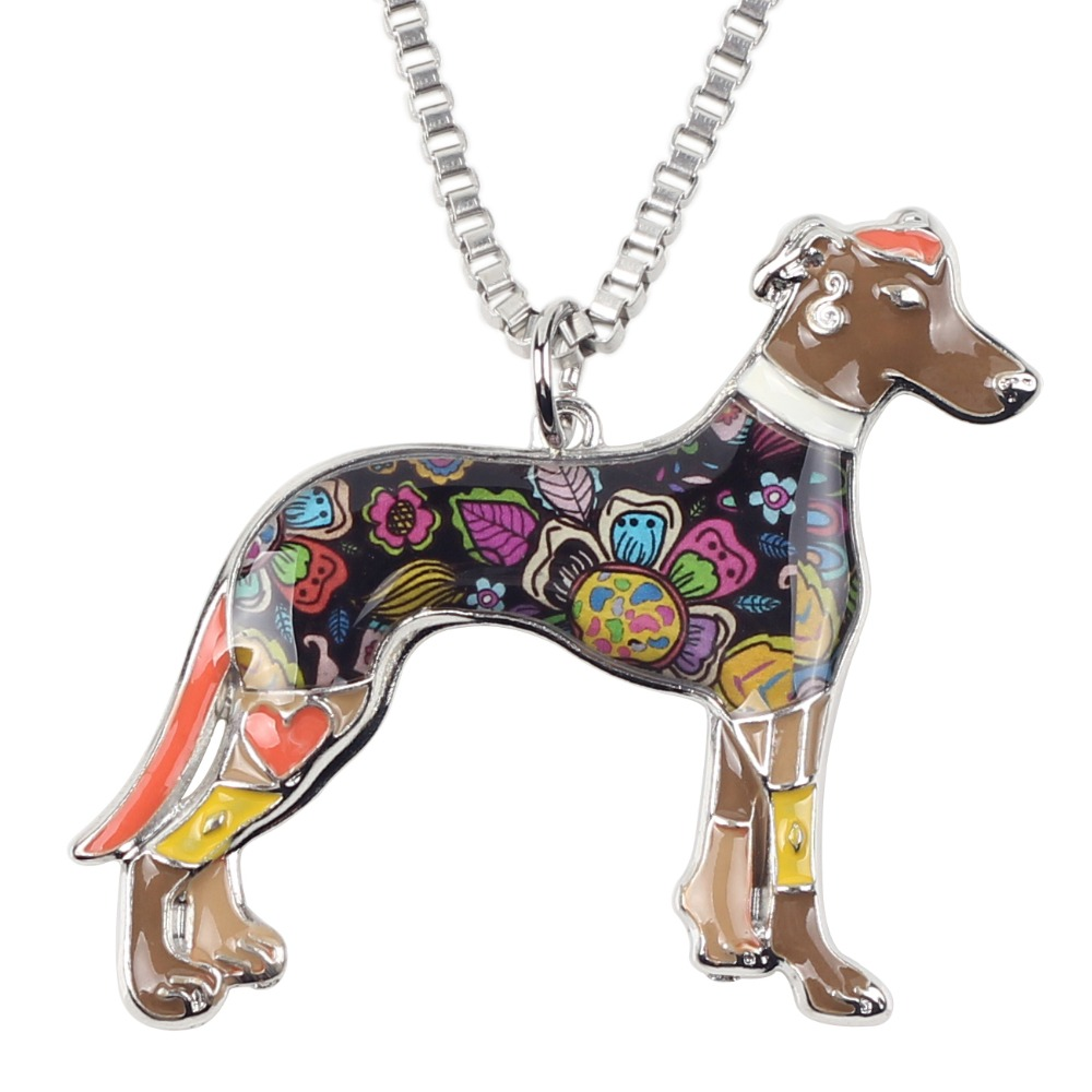 Bonsny Maxi Izjava Metalne legure galije Greyhound Dog Nakit Choker - Modni nakit - Foto 3