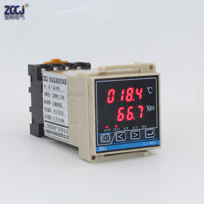 Small size 48 48mm DIN 35mm mounting humidity and temperature controller temperature and humidity meter with humiture sensor in Temperature Instruments from Tools