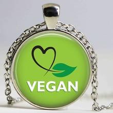 Green VEGAN heart jewelry (different designs)