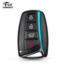 Dandkey 4 Buttons Key Case Remote Key Shell For Hyundai Genesis 2013-2015 Santa Fe Equus Azera Smart Key Fob Uncut TOY40 Blade