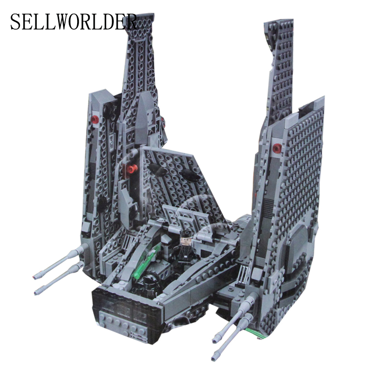 building bricks 05006 Star Plan Wars Kylo Ren Command Shuttle Model 1053pcs Building Blocks Toys with Character Figures 75104 color metal 3d puzzle star wars millennium falcon for adult 2016 new batman flying wing kylo ren shuttle 3d nano jigsaw puzzles