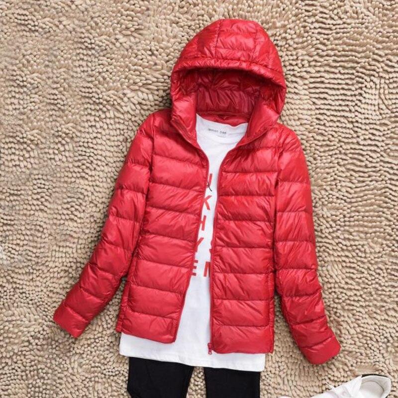 2017 New Winter   Down   Jacket women White Duck   Down     Coat   Ultralight   Down   Jacket female Windproof Warm Parka 4XL Plus Size QH0934