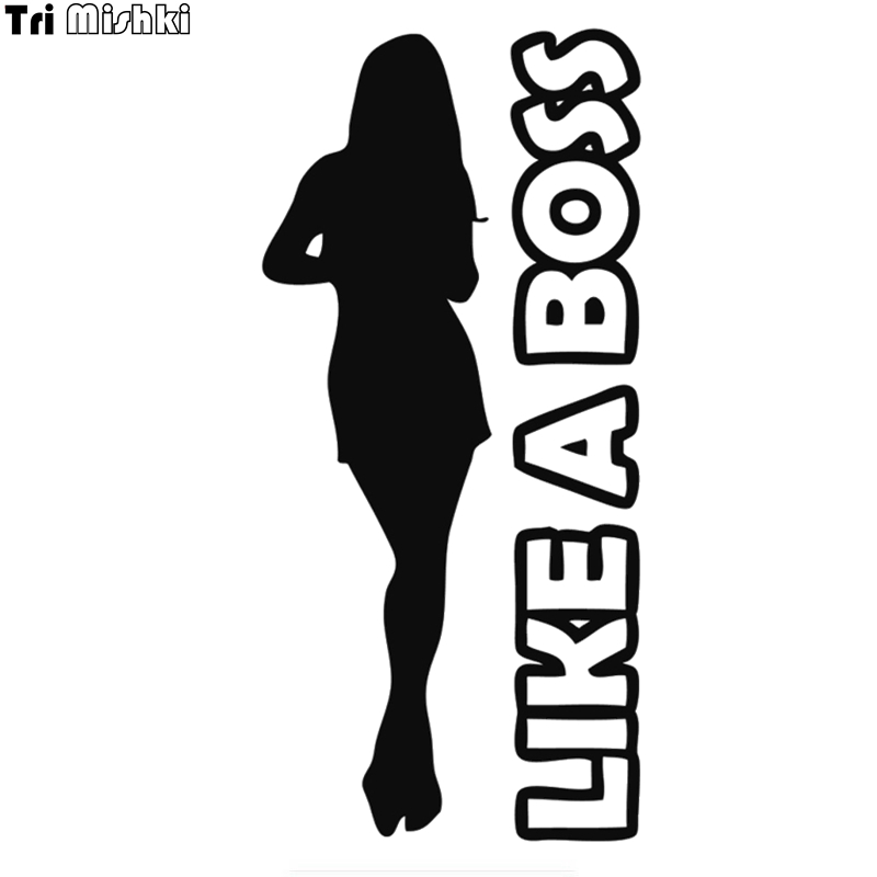 Tri Mishki HZX654# 20*9cm Like a boss girl car sticker
