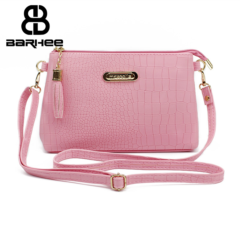 women famous brand fashion tassel Small Handbags Hot sale crocodile leather messenger bags Shoulder mini bag Crossbody