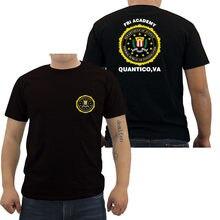 Fbi academy quantico va polícia dos estados unidos departamento de justiça t-shirts impressas masculino do exército o pescoço camisetas legal