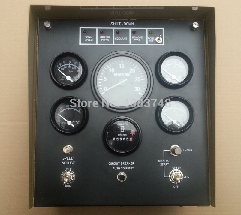 Generator Control Box 4913742 Includes water temperature, oil pressure gauge, speed controllers, overspeed protection panels includes