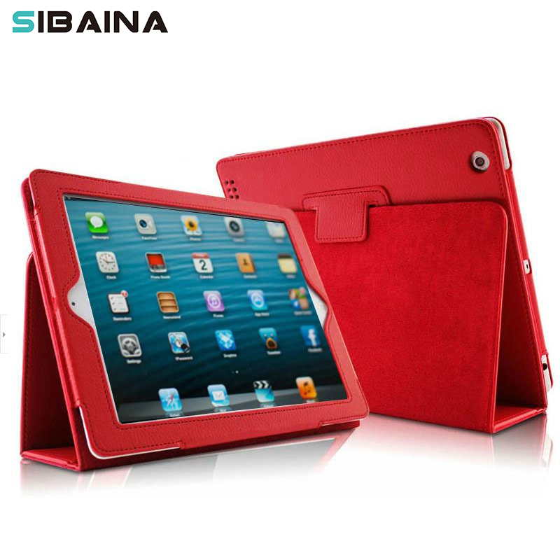 Sibaina For New iPad 2017 Tablet Case Flip PU Leather Smart Stand Cover For ipad 2017 A1822 A1823 Protective Funda Case Cover