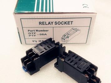 Free Shipping  10PCS DPDT 8P PTF08A Socket Base for power  relay LY2NJ 10pcs dc220v coil 3pdt 11pin green led general purpose power relay w socket base free shipping