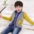 KAMIWA 2016 Primavera Chicos Adolescentes de Algodón Tejer Suéteres de manga Larga Del Faux de Dos Piezas Conjunto de Los Niños Cabritos de la Ropa Superior ropa