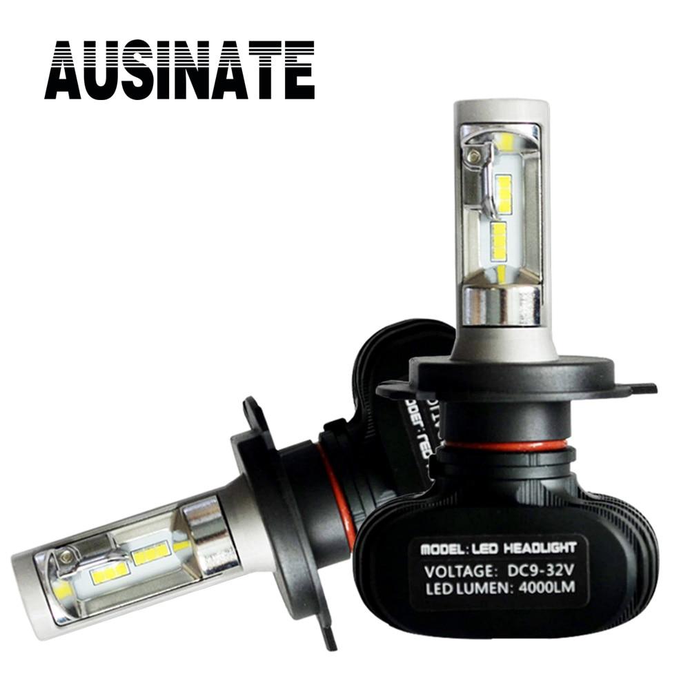 1 dvojice H4 9003 HB3 LED světlomety do auta H4 Hi / Lo paprsek Super jasné Auto mlhové světlomety 6500K white50W 8000LM Automobilové lampy