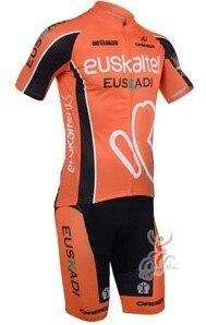 Prix pour 2013 NOUVEAU!!! Euskaltel Euskadi manches courtes vélo maillot porter des vêtements vélo/vélo/équitation jersey + pantalon de shorts