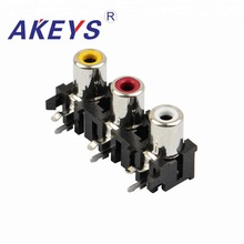 10PCS AV3-8.4-05 Audio AV Concentric Socket 3 hole RCA Female Outlet Connector цены