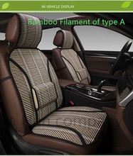 2017new diseño de bambú cubierta de asiento de coche amortiguador del coche de verano de refrigeración y la respiración
