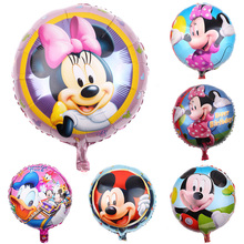 Disney Mickey Minnie Mouse Theme Foil Balloon Happy Birthday Balloons Party Decorations For Kids